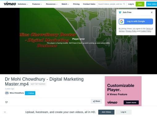 Dr Mohi Chowdhury – Digital Marketing Company