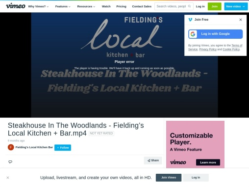 Steakhouse In The Woodlands – Fielding's Local Kitchen + Bar
