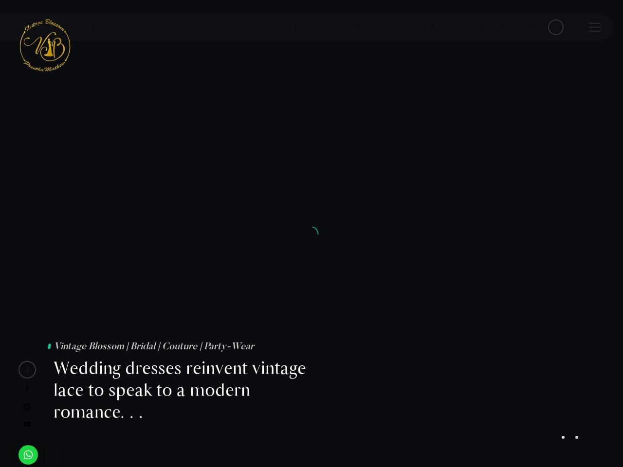 Bridal Gowns Trivandrum | Vintage Blossom Trivandrum