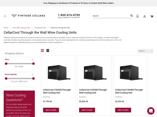 CellarCool Through the Wall Cooling Units