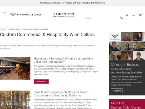 Build Custom Commercial & Hospitality Wine Cellars