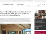 Custom Glass Enclosed Wine Cellars Newport Beach, Orange County