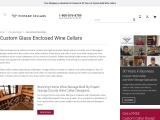 Build Custom Glass Enclosed Wine Cellars