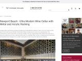 Custom Modern Wine Cellars Newport Beach, Orange County