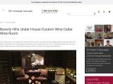 Custom Wine Cellar Wine Room in Beverly Hills, California