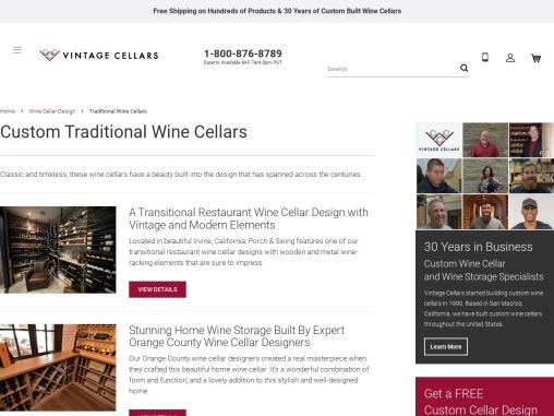 Build Custom Traditional Wine Cellars