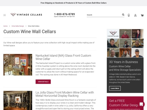 Build Custom Wine Wall Cellars