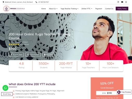 Online 200 Hour Yoga Teacher Training Course