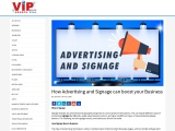 How Advertising and Signage can boost your Business