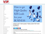 HOW TO GET HIGH-QUALITY B2B LEADS FOR YOUR BUSINESS