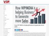 How VIP INDIA is helping Business to generate more sales