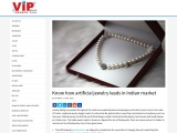 Know how artificial jewelry leads in Indian market