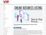 Online Business Listing Step by Step process