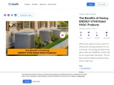 The Benefits of Having ENERGY STAR Rated HVAC Products