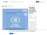Everything You Need to Know About Certified Vital Records | PDF