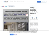 window coverings installation service Dallas For worth