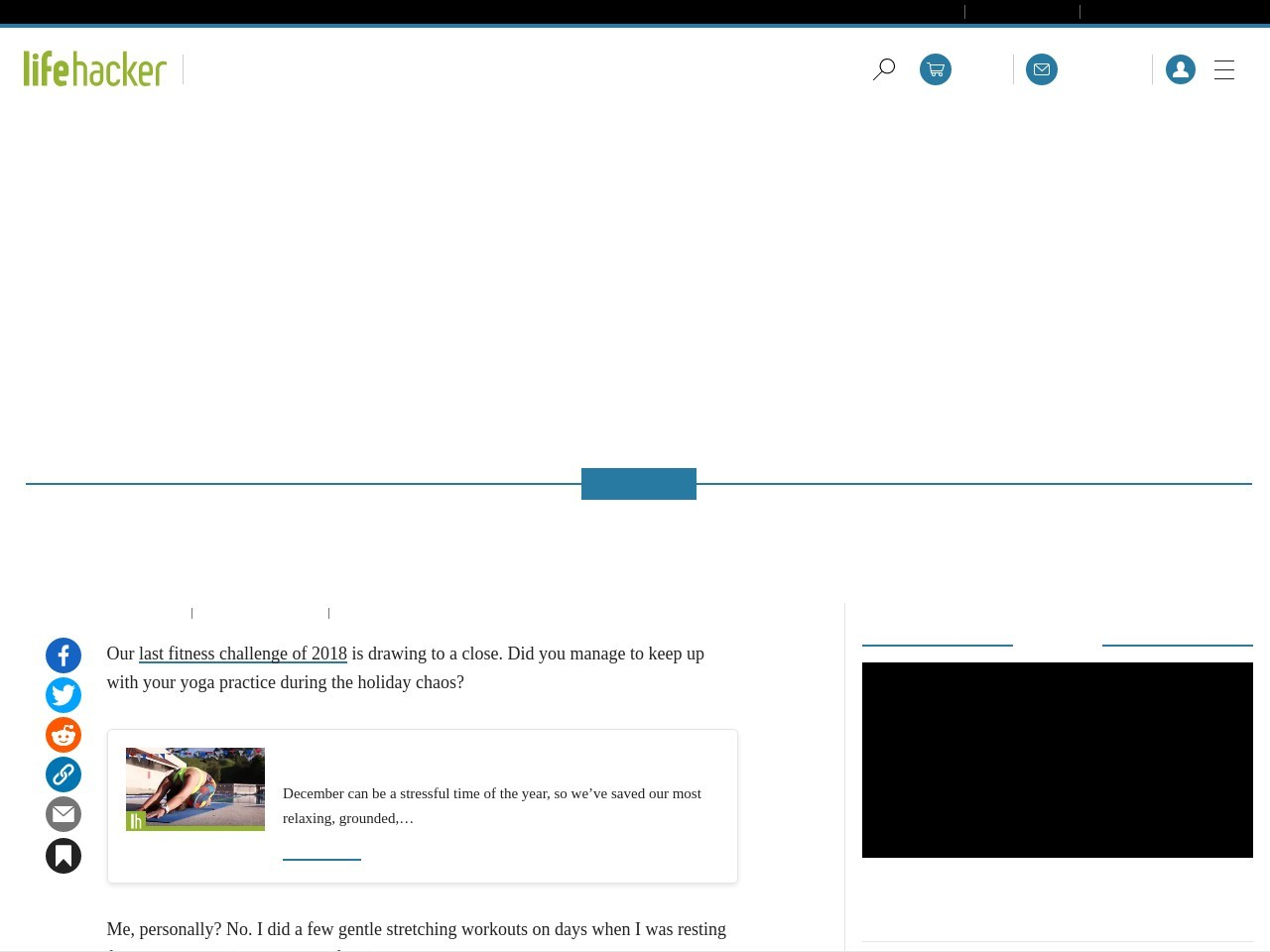 How Was Your Month of Yoga?