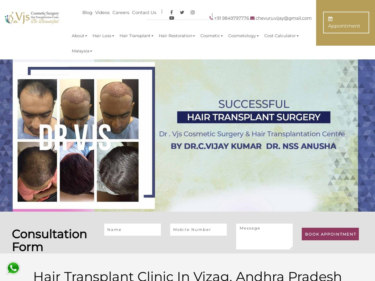 Bio FUE Hair Transplant in Visakhapatnam