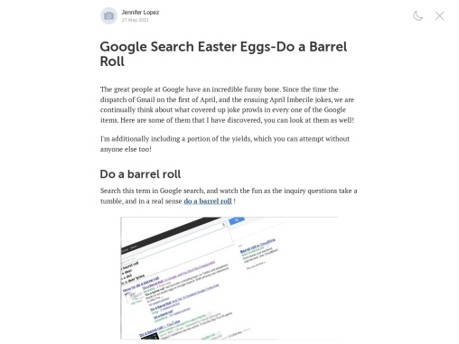Google Search Easter Eggs-Do a Barrel Roll