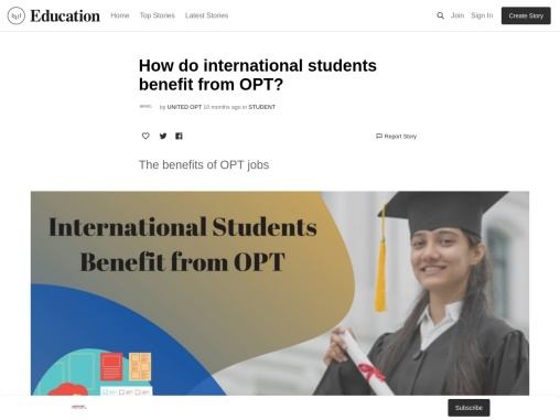 Get the OPT jobs in the USA as International students.