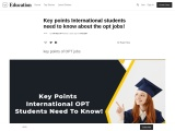 International students need to know about the opt jobs