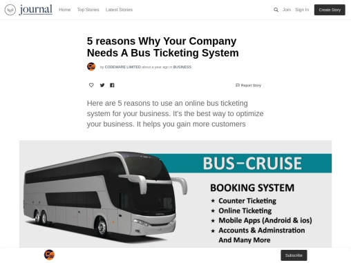 5 reasons Why Your Company Needs A Bus Ticketing System