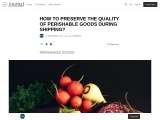 HOW TO PRESERVE THE QUALITY OF PERISHABLE GOODS DURING SHIPPING?