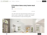 6 Furniture items every home must have