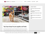 Pet shops for pet supplies and foods