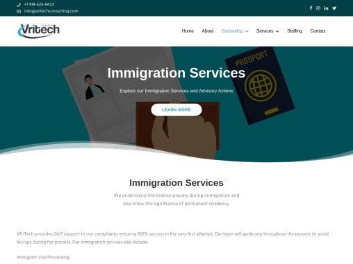 immegration services in north carolina