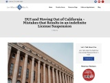 DUI and moving out of California