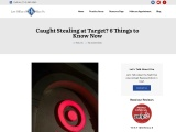 Caught Stealing at Target – What to Do and Advice