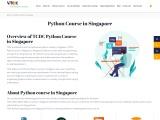 Python Course in Singapore – VyTCDC