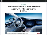 The Mercedes-Benz EQS 450+ with 245 hp from 106,000 euros