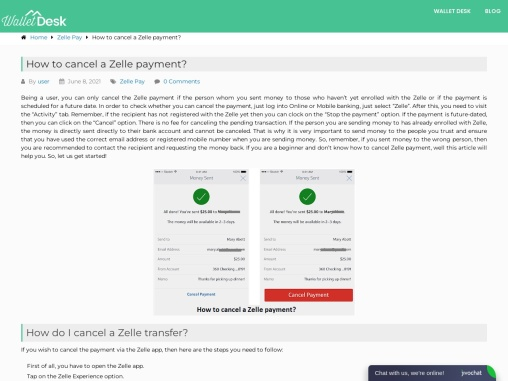 Can you cancel a zelle payment?