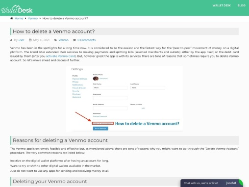 How to delete Venmo Account or your link account?