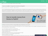 How to transfer money from Venmo to PayPal?