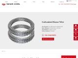 Galvanized Razor Wire | Concertina Razor Wire