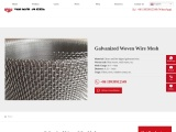 Galvanized Woven Wire Mesh   Various Designs in Stock