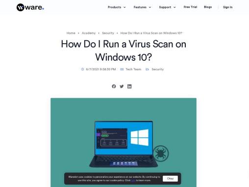 How Do I Run a Virus Scan on Window 10   AVG Virus Scanning