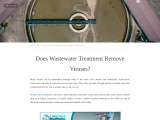 Does Wastewater Treatment Remove Viruses?