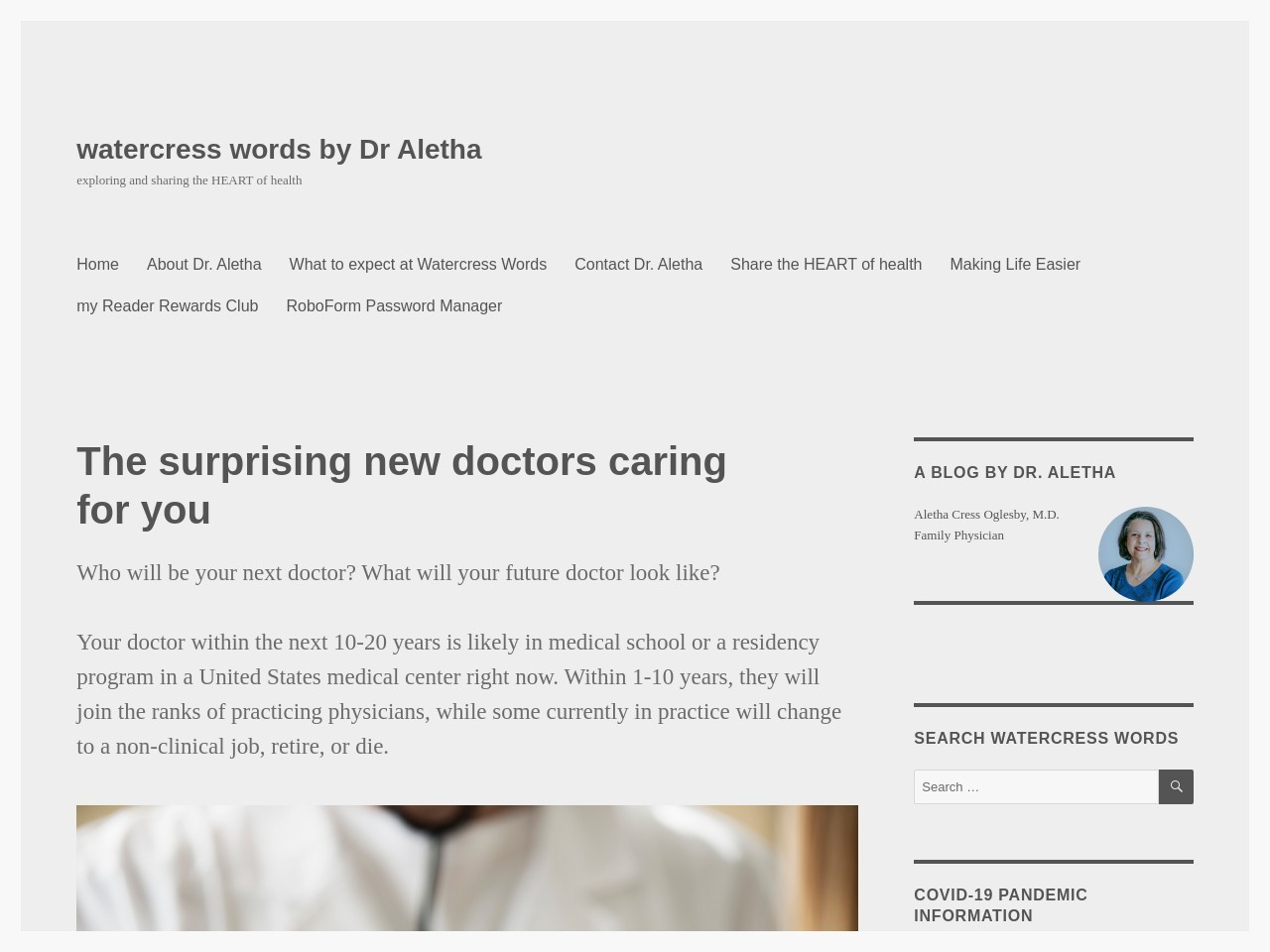 The surprising new doctors caring for you