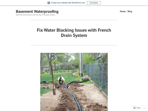 Fix Water Blocking Issues with French Drain System