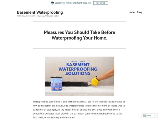 Measures You Should Take Before Waterproofing Your Home.