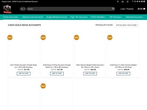 Buy Gold Nova CSGO Accounts From Waytosmurf