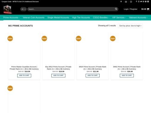 Buy MG Prime Accounts from waytosmurf