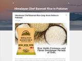 Himaliyan chef Basmati rice in pakistan