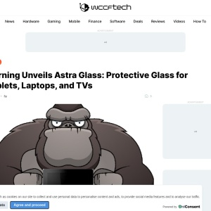 Corning Unveils Astra Glass: Protective Glass for Tablets, Laptops, and TVs