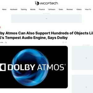Dolby Atmos Can Also Support Hundreds of Objects Like PS5's Tempest Audio Engine, Says Dolby
