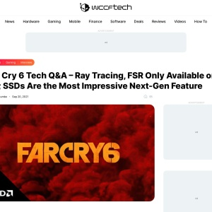 Far Cry 6 Tech Q&A - Ray Tracing, FSR Only Available on PC; SSDs Are the Most Impressive Next-Gen Feature